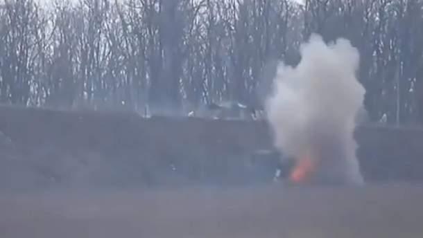 Украинские бойцы уничтожили позицию оккупантов на Донбассе