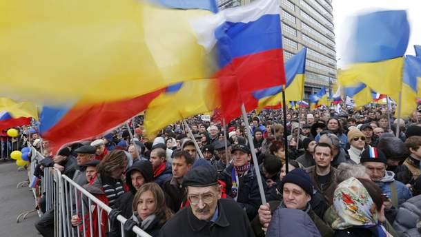 Как население Украины относится к России и населения России к Украине