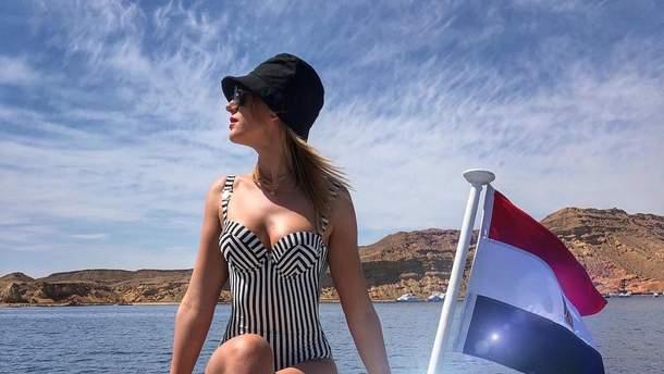 Леся Никитюк на отдыхе в Египте