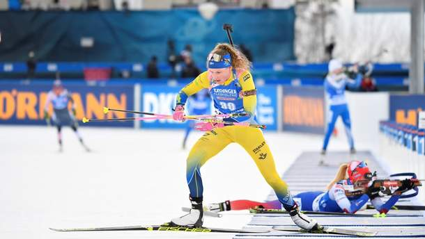Трое украинок в топ-15 на чемпионате мира по биатлону, победила шведка Эберг