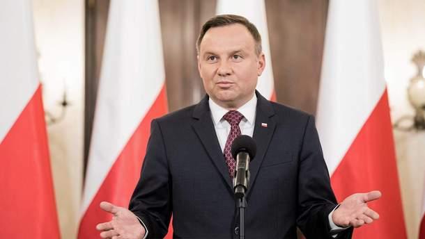 Дуда застеріг Європу від провокацій Росії