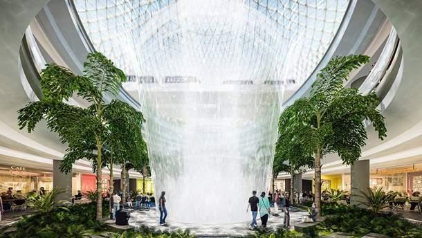 Самый высокий в мире искусственный водопад вскоре откроется в Сингапуре