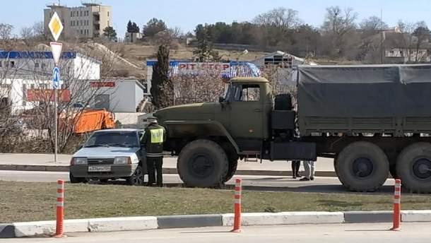 ДТП с военной техникой в Севастополе