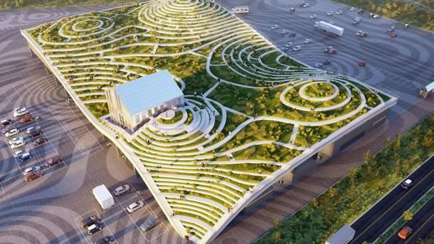 Зелений дах-лабіринт від MVRDV: він вас здивує