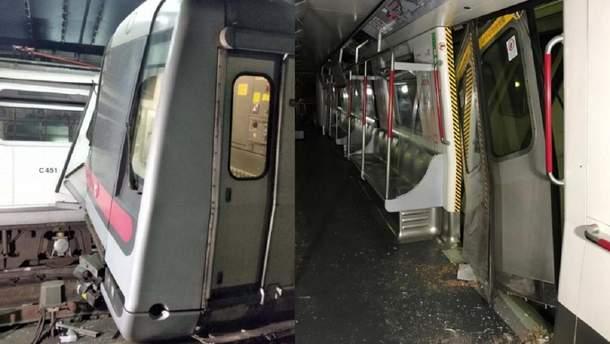 В гонконгском метро столкнулись поезда