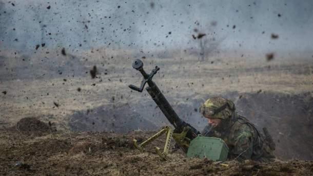 Появилось видео ликвидации пулеметной точки оккупантов на Донбассе