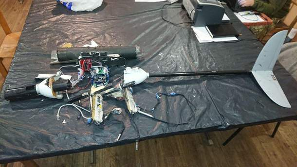 Українські військові збили дрон окупантів