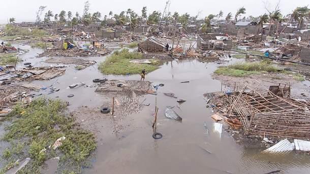 Місто Бейра після повені