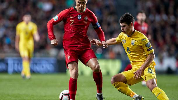 Украина выстрадала ничью в матче с Португалией