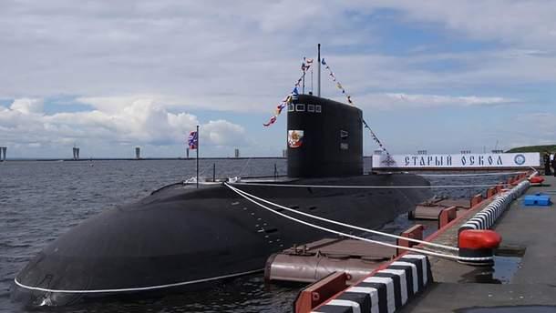 """У Чорне море вийшов підводний човен РФ  """"Старий Оскол"""""""