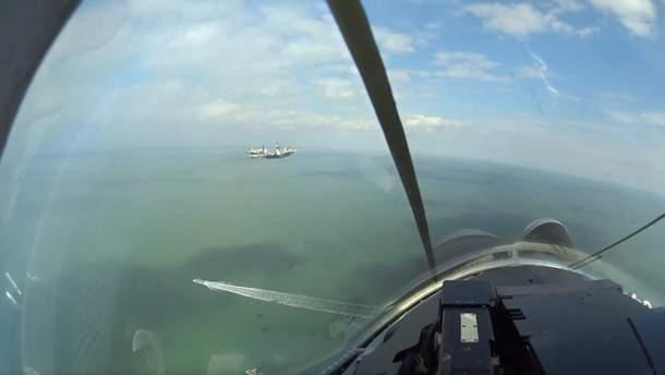 Українські винищувачі провели навчання над Азовським морем