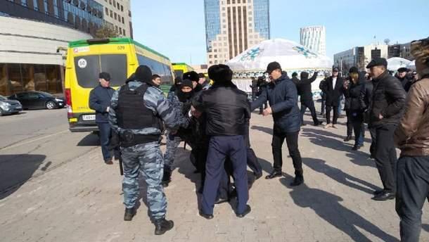 Затримання протестувальників у столиці Казахстану