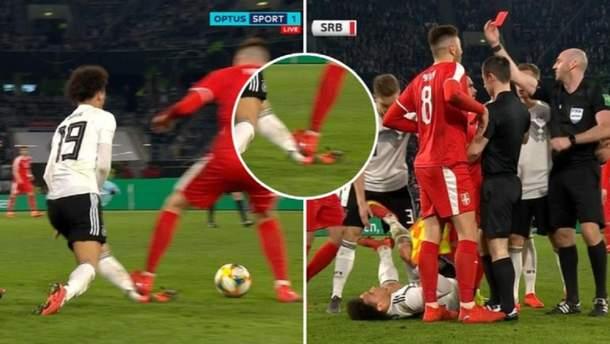 Сербский футболист едва не оторвал ногу партнеру Зинченко: жуткое видео