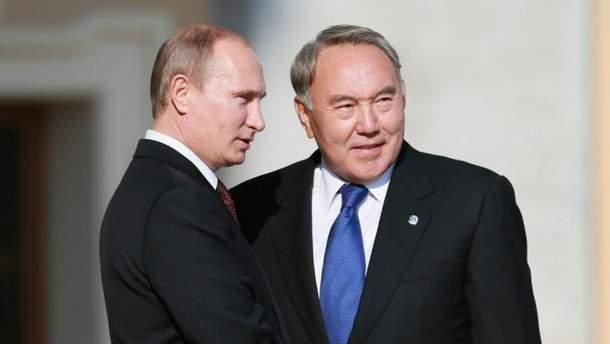Володимир Путін і Нурсултан Назарбаєв