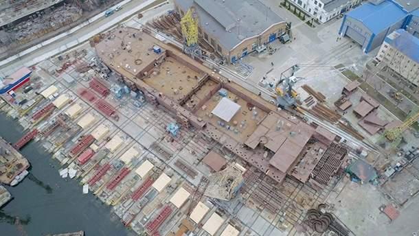 "140-метровый плавучий кран П-140 ""NIBULON MAХ"" скоро спустится на воду"