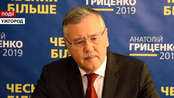 Тисячі виборців прийшли на зустріч з Анатолієм Гриценком в Ужгороді