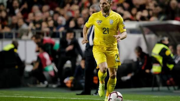Украинский футболист получил ужасное рассечение в матче с Люксембургом