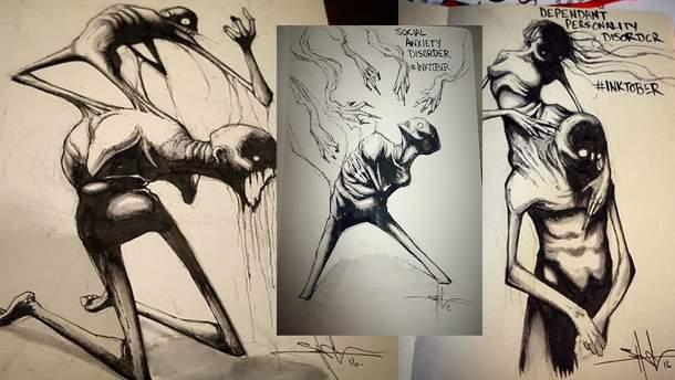 Психічні захворювання в ілюстраціях Шона Косса