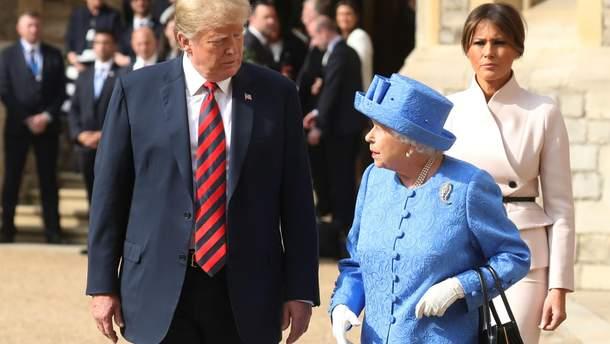 Дональд Трамп и Елизавета