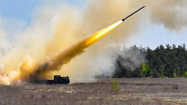 """Украинские испытания ракетного комплекса """"Ольха"""""""