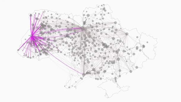 Сеть автобусных маршрутов
