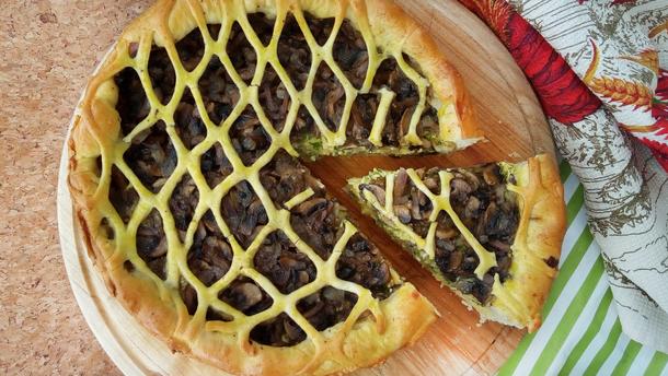 Рецепт грибного пирога с картошкой