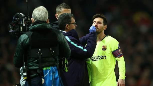 Лионель Месси травмировался в матче Лиги чемпионов