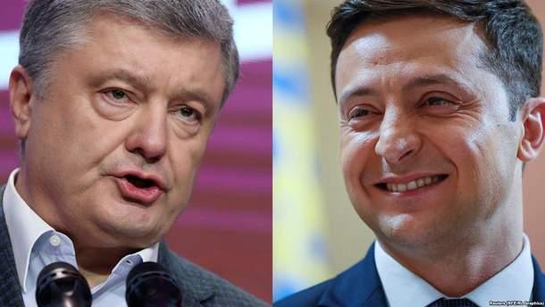 """Порошенко и Зеленский поспорили в эфире """"1+1"""""""
