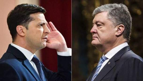 Зеленський і Порошенко не відповідають на важливі для країни питання