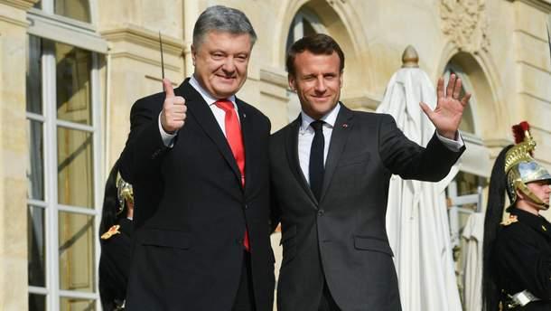 Встреча Порошенко с Макроном - видео и фото встречи 12 апреля 2019