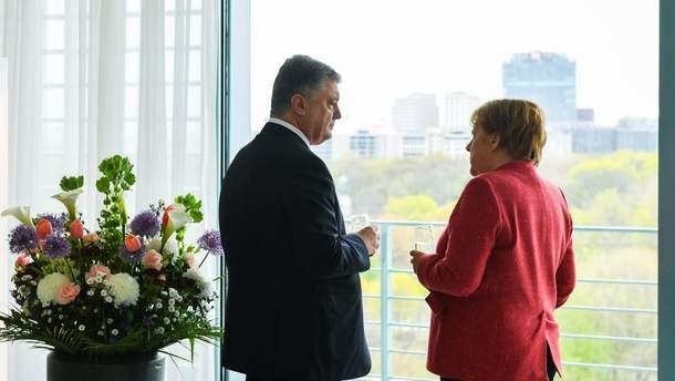 "Меркель и Порошенко говорили о Путине и "" Северном потоке-2"""