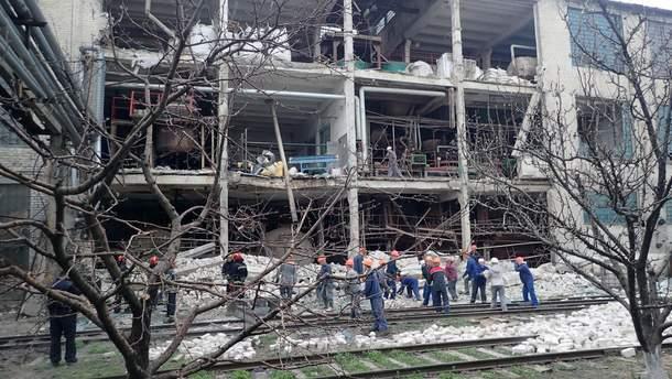 Взрыв на заводе в Лисичанске 13 апреля