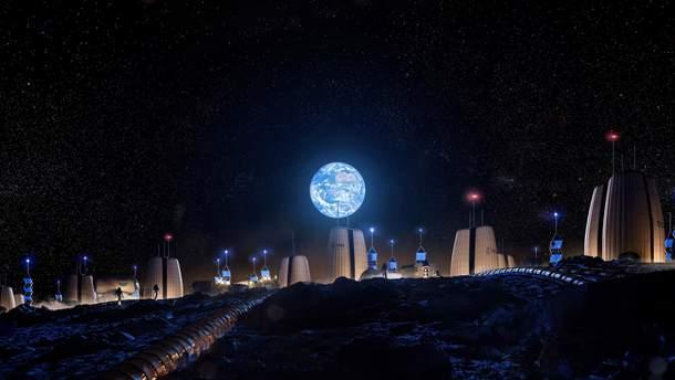 Поселение на поверхности Луны