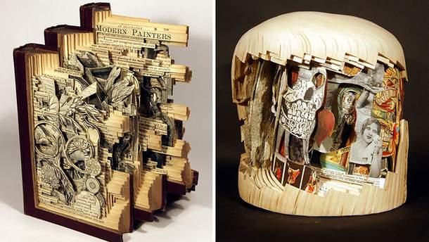 Книжные скульптуры Брайана Деттмера