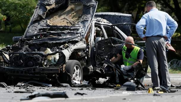 В Киеве взорвали машину украинского разведчика Максима Шаповала