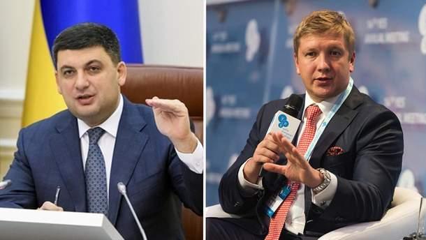 Гройсман погрожує Коболєву відставкою