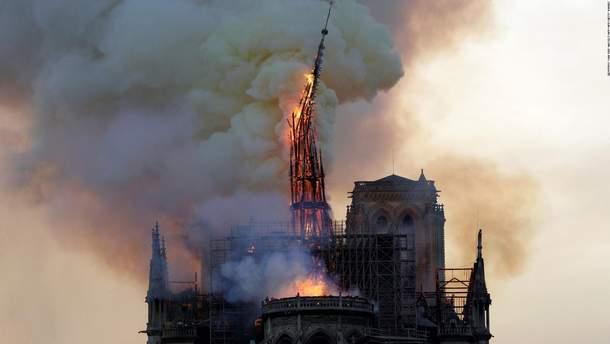 Франция объявит международный архитектурный конкурс на восстановление шпиля Нотр-Дама