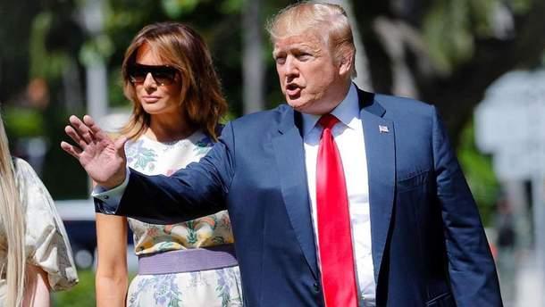 Мелания Трамп в одеяние за 5 тыс. долларов фото