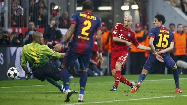 """Ретро-відео: як """"Баварія"""" розтрощила """"Барселону"""" у півфіналі Ліги чемпіонів"""