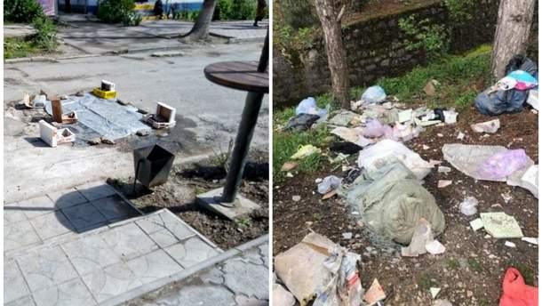 Наслідки окупації в Криму – купи сміття і розруха