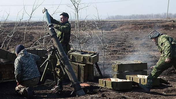 Боевики вели огонь из 120-миллиметровых минометов на Донбассе