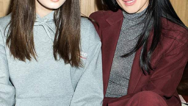 Маша Єфросиніна з дочкою