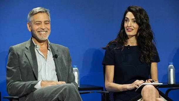 Джордж і Амаль Клуні в Нью-Йорку