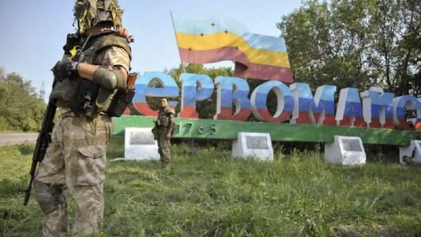 Бойовики гатять з окупованого Первомайська
