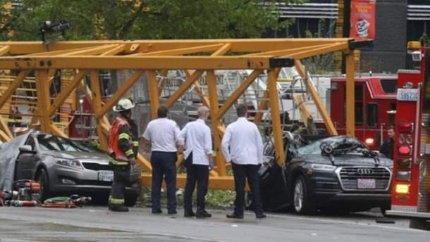 В Сиэтле на дорогу рухнул кран