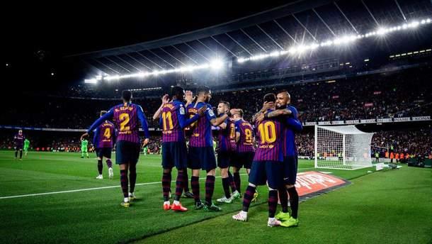 Барселона стала чемпионом Испании благодаря голу Месси: видео