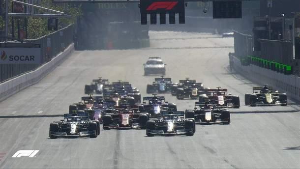 Боттас переміг на гран-прі Азербайджану, Mercedes встановили унікальне досягнення