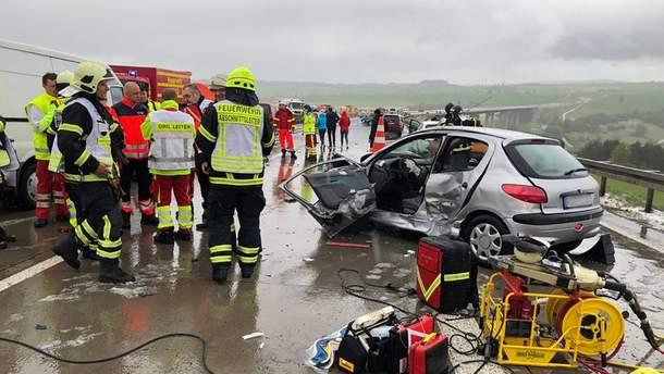 Авария в Германии