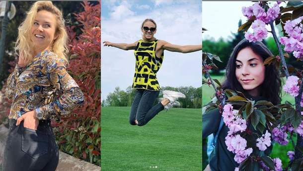 Украинские спортсменки показали весенние фото