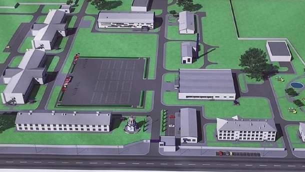 Проект військового містечка Дачне-2